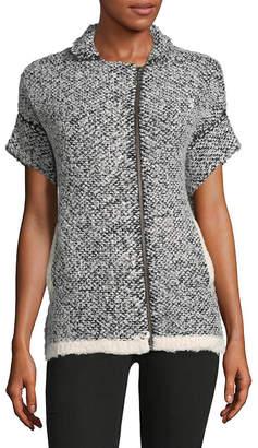Leo & Sage Leo + Sage Textured Full Zip Sweater Jacket