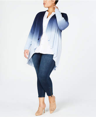 INC International Concepts I.n.c. Plus Size Dip-Dye Cozy Completer