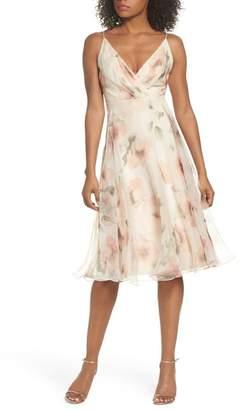 Jenny Yoo Collection Sabrina Floral Chiffon A-Line Midi Dress