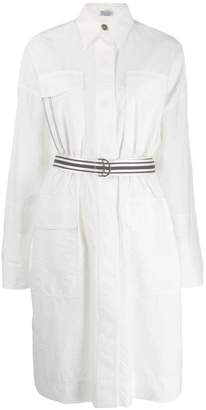 Brunello Cucinelli belted midi shirt dress