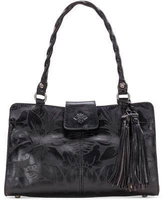 Patricia Nash Rienzo Laser Floral Leather Satchel