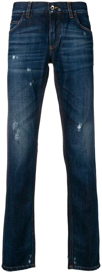 Dolce & Gabbana faded distressed jeans