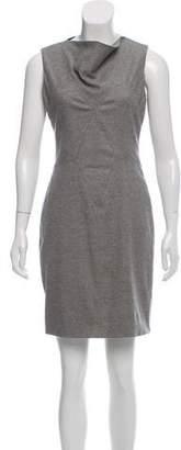 Helmut Lang Virgin Wool Bateau Neck Dress