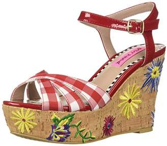 Betsey Johnson Women's Traci Wedge Sandal