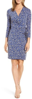Women's Anne Klein Print Wrap Dress $99 thestylecure.com