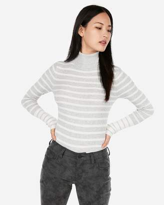 Express Striped Turtleneck Sweater