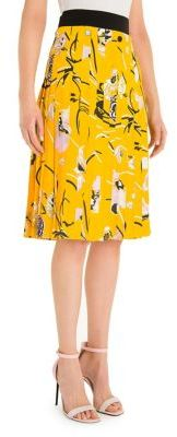 Emilio Pucci Pleated Printed Skirt