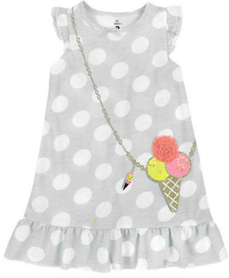 Petit Lem Little Girl's Ice Cream Polka Dot Nightgown $28 thestylecure.com