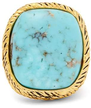 Aurelie Bidermann Gold Plated Miki Ring - Womens - Green