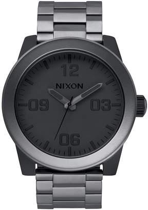 Nixon Men Corporal Stainless Steel Bracelet Watch 48mm A346