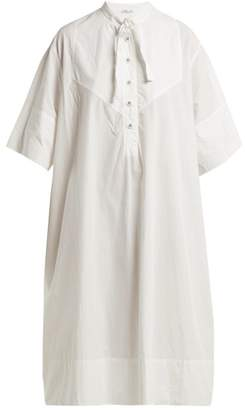 Tomas Maier Cotton Poplin Shirtdress - Womens - White