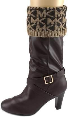 MICHAEL Michael Kors MK Cuff Sock Women US L Brown Boot Socks
