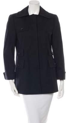 Akris Punto Wool Wide Collar Coat