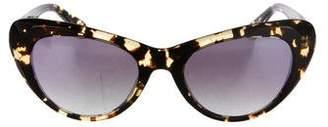 Cat Eye Krewe Mirrored Cat-Eye Sunglasses