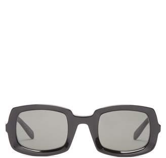 Saint Laurent Thick frame acetate sunglasses