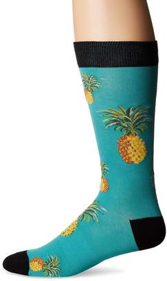 K. Bell Socks Men's Pineapple Crew