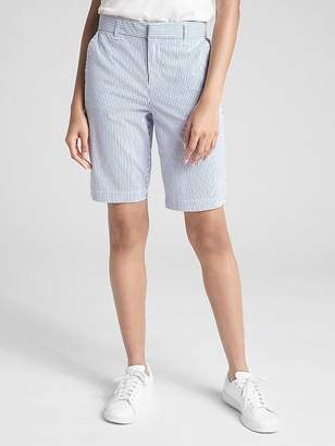"Gap 10"" Bermuda Shorts in Stretch Seersucker"