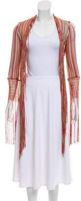 Missoni Striped Fringe-Trimmed Cardigan