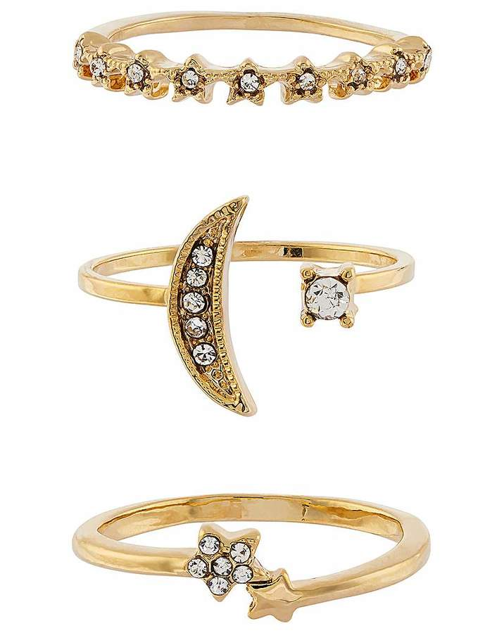 Accessorize Star And Moon Stack Set