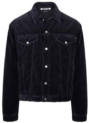 McQ Luca Midnight Blue Velvet Jacket