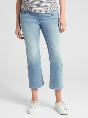 Gap Maternity Full Panel Crop Kick Jeans