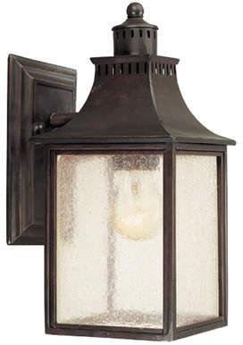 Laurèl Foundry Modern Farmhouse Kennett 1-Light Outdoor Glass Shade Wall lantern