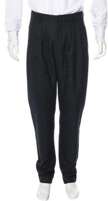 Giorgio Armani Pleated Wool & Cashmere Pants