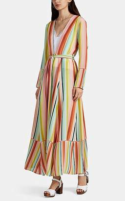Leone WE ARE Women's Striped Silk Maxi Robe