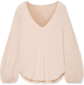 BEIGE Skin - Kirsten Organic Pima Cotton-jersey Pajama Top