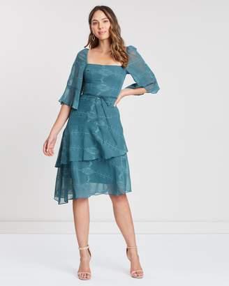 Cooper St Fern Tie Waist Asymmetric Dress