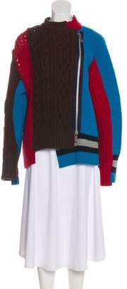 Sacai Wool Cable Knit Sweater