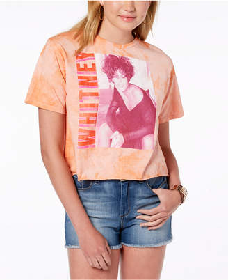 Bravado Juniors' Cotton Whitney Houston Cropped T-Shirt