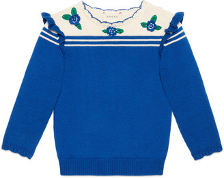 Children's cotton sweater with flowers $320 thestylecure.com