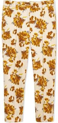 Burberry Floral Velvet Jacquard Trousers