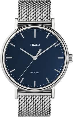 Timex R) Fairfield Mesh Strap Watch, 41mm
