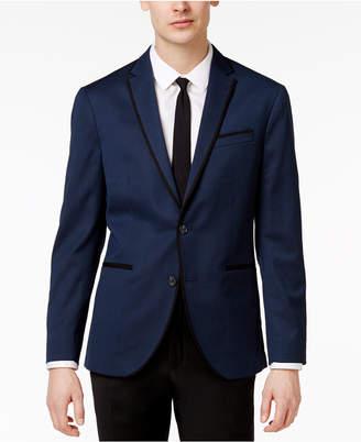Kenneth Cole Reaction Men's Slim-Fit Blue Birdseye Dinner Jacket $295 thestylecure.com
