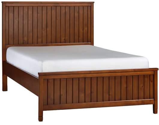 Beadboard Basic Bed, Full, Chestnut