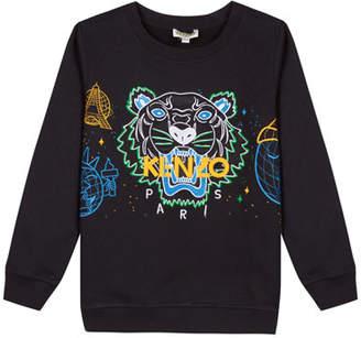 Kenzo Tiger Icon Embroidered Sweatshirt, Size 2-6