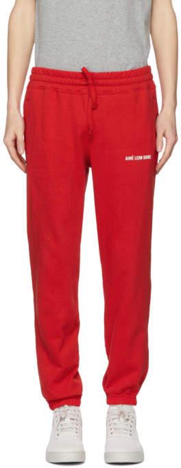 Aime Leon Dore Red Logo Camper Lounge Pants