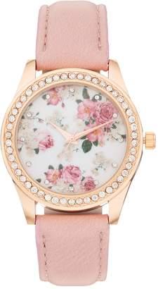 Kohl's Women's Crystal Flower Watch