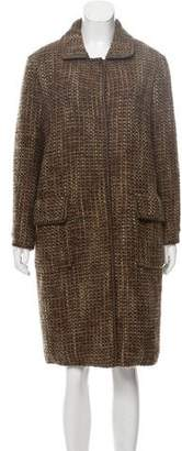 Alberta Ferretti Wool-Blend Bouclé Coat