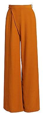 3.1 Phillip Lim Women's Sateen Front High-Waist Wide Leg Pants - Size 0
