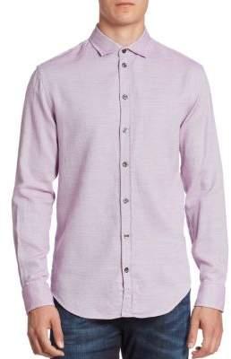 Giorgio Armani Microneat Button-Down Shirt