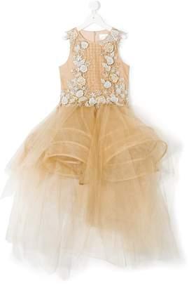 Mischka Aoki embellished hoop design tulle dress