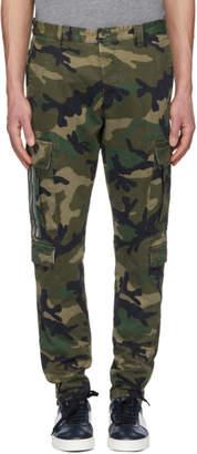 Valentino Green Camo Slim Cargo Pants