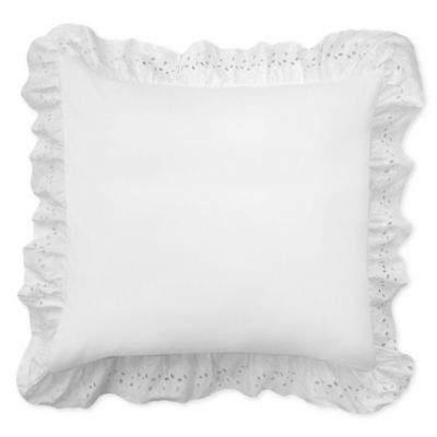 Smoothweave SmootheweaveTM Ruffled Eyelet European Pillow Sham in White