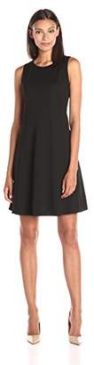 Lark & Ro Women's Textured A-Line Flare Dress