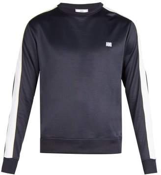 Ami Bi Colour Crew Neck Sweatshirt - Mens - Navy