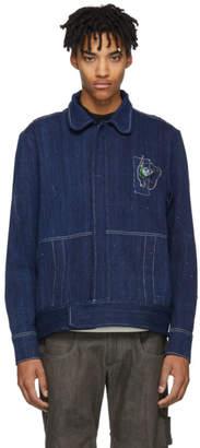 St-Henri SSENSE Exclusive Blue Denim Pompiste Jacket