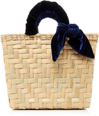 Donni. M'O Exclusive Donni Straw and Velvet Basket Bag